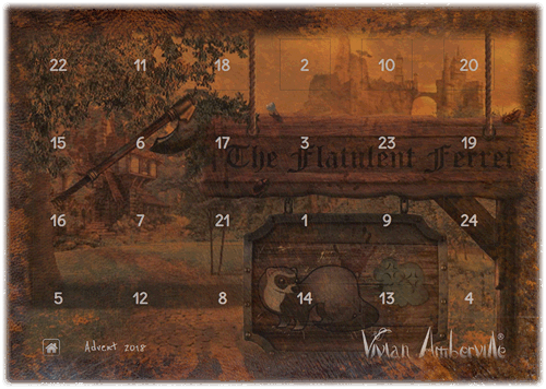 Check out our Vivian Amberville Advent Calendar for 2018