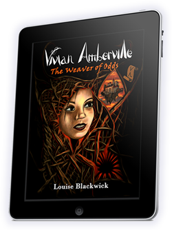 Vivian Amberville - The Weaver of Odds tablet cover